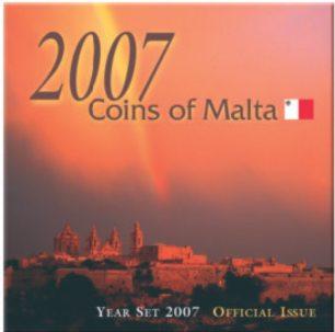 Malta Lira-Kursmünzensatz 2007