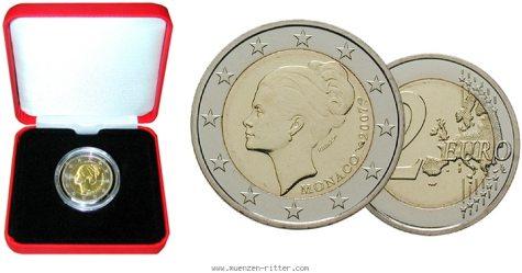 2 Euro Gedenkmünze Grace Kelly aus Monaco 2007