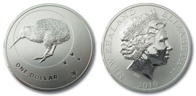Kiwi Silbermünze 2010