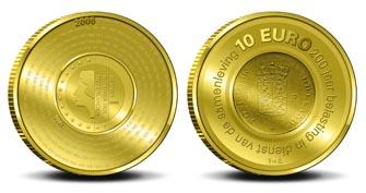 10 Euro Münze Niederlande 2006 - Finanzverwaltung