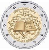 Niederländische 2 Euro Münze Römische Verträge