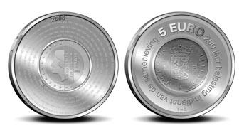 5 Euro Gedenkmünze Niederlande 2006 - 200 Jahre Finanzverwaltung