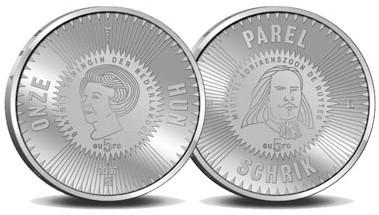5 Euro Gedenkmünze Niederlande Ruyter 2007