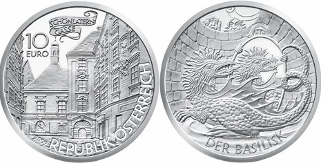 10 Euro Münze Basilisk von Wien