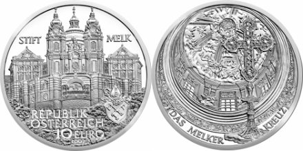 10 Euro Münze Stift Melk Österreich 2007