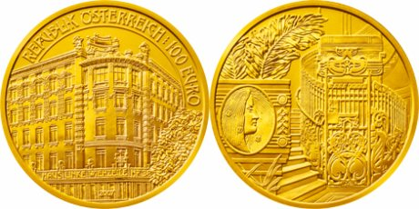 Goldmünze Wienzeile Nr. 38