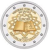 2 Euro Vertrag von Rom Österreich