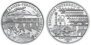 20 Euro Münze österreichische Eisenbahnen