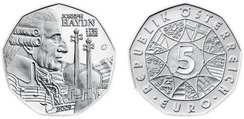 5 Euro Münze Joseph Haydn 2009