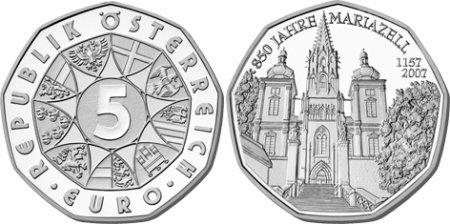5 Euro Gedenkmünze Mariazell Aus österreich