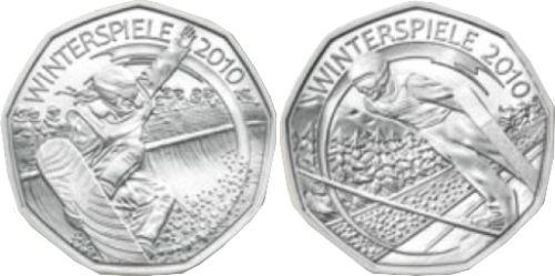 5 Euro Münzen Winterspiele 2010 Österreich