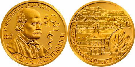 50 Euro Goldmünze Semmelweis