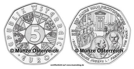 5 Euro Gedenkmünze Österreich 2007