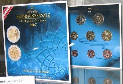 Kursmünzensatz Österreich 2007