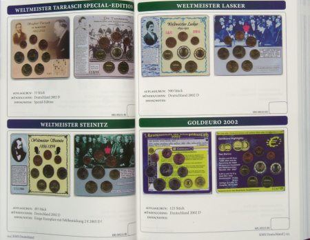 Kursmünzensatz im Pappensammlerbuch