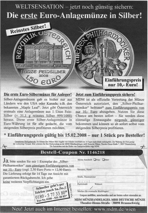 Silber Philharmoniker für 10 €