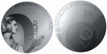 2,5 Euro Münze Musikstil Fado