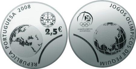 2,5 Euro Münze Olympia 2008