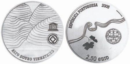 2,5 Euro Münze Weinregion Alto Douro