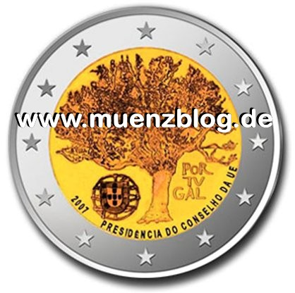 2 Euro Münze EU-Präsidentschaft Portugal 2007