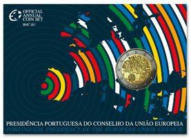 BU Blister von 2 Euro Münze EU Präsidentschaft