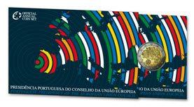 2 Euro Gedenkmünze EU-Präsidentschaft Portugal 2007 in PP