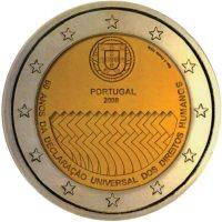 2 Euro Münze Menschenrechte aus Portugal