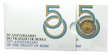 2 Euro Proof-Blister Römische Verträge Portugal 2007