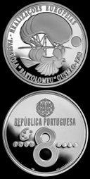 8 Euro Münze Luftschiff Passarola Portugal