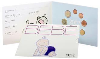 Baby-Kursmünzensatz Portugal 2007