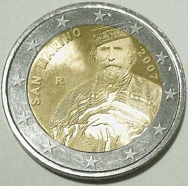 2 Euro Gedenkmünze Giuseppe Garibaldi 2007