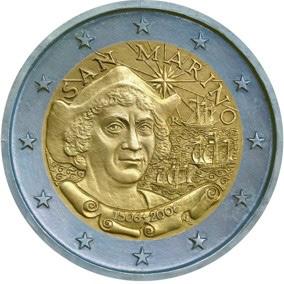 2 Euro Gedenkmünze San Marino Kolumbus 2006