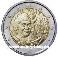Originalbild der 2 Euro Gedenkmünze San Marino 2006