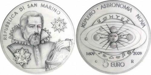 5 Euro Münze Keplersche Gesetze San Marino