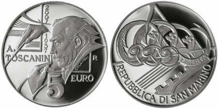 5 Euro Münze Toscanini