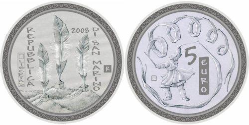 5 Euro Münze Olympische Spiele 2008
