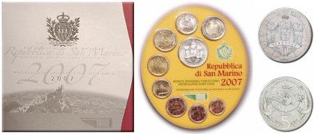 Kursmünzensatz San Marino 2007