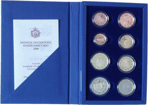 San Marino PP Kursmünzensatz 2008