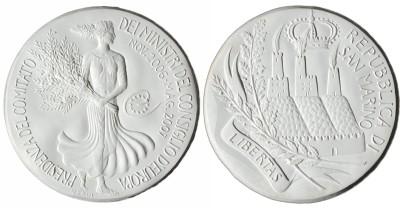 Silbermedaille aus San Marino 2006