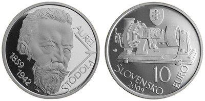 10 Euro Münze Aurel Stodola