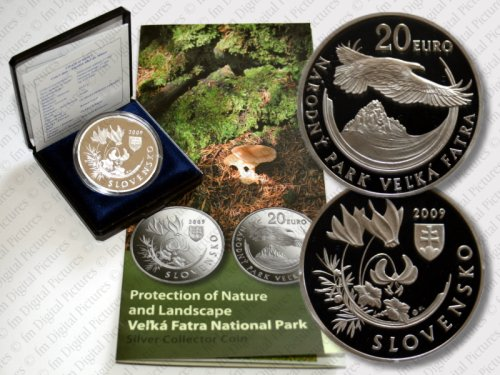 20 Euro Münze Nationalpark Velka Fatra Slowakei