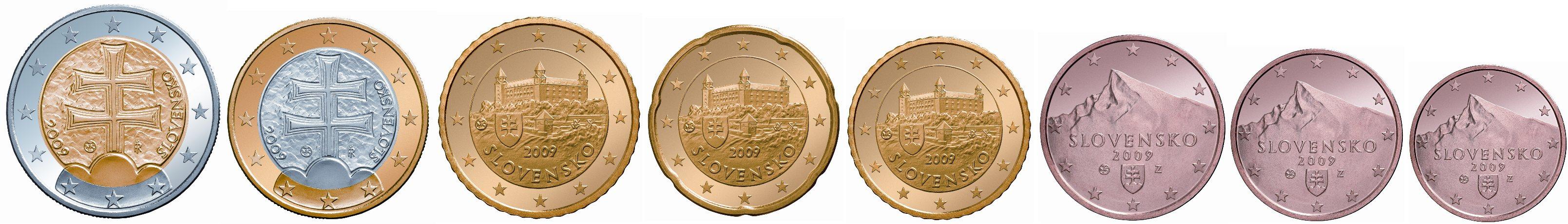 Euro Einführung In Der Slowakei Slowakische Euromünzen