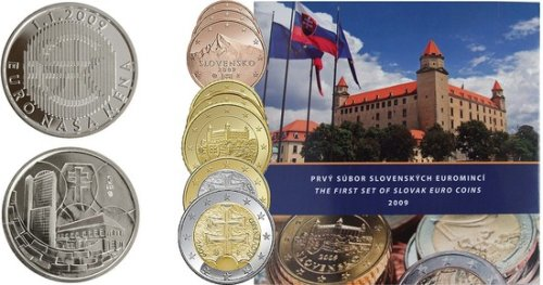 Kursmünzensatz Slowakei 2009