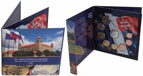 Erster Euro-Kursmünzensatz der Slowakei