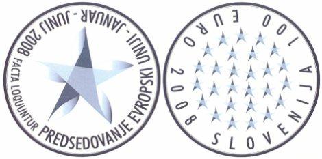 Gedenkmünzen EU-Präsidentschaft Slowenien 2008