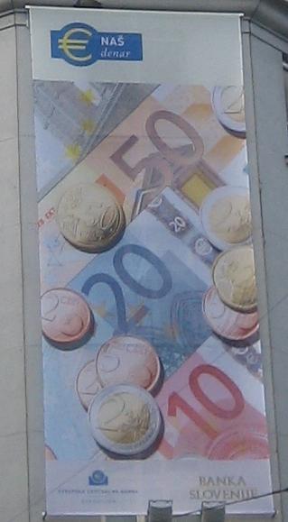 Banner zur Euroeinführung