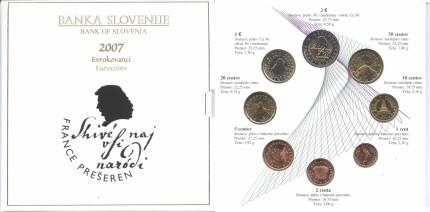 Slowenien Kursmünzensatz 2007