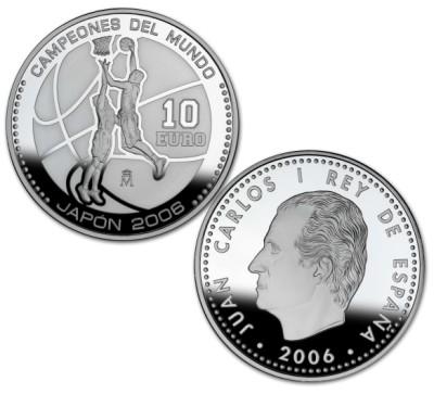 10 Euro Münze Basketball-WM 2006 Spanien