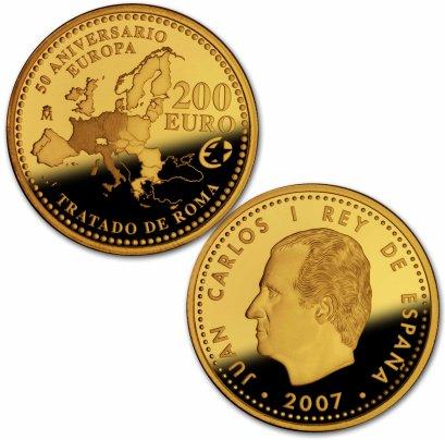 200 Euro Goldmünze Römische Verträge Spanien