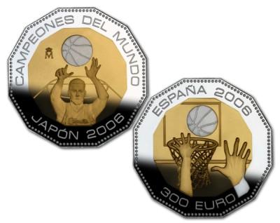 300 Münze Basketball Spanien 2006